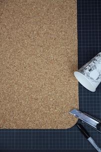Diy Schreibtischunterlage Aus Kork The Modern Traditional